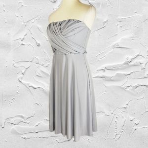 Ann Taylor Petite Strapless Ruched Cocktail Dress